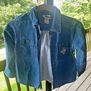 Vintage girls sz 5 Harley Davidson denim jacket